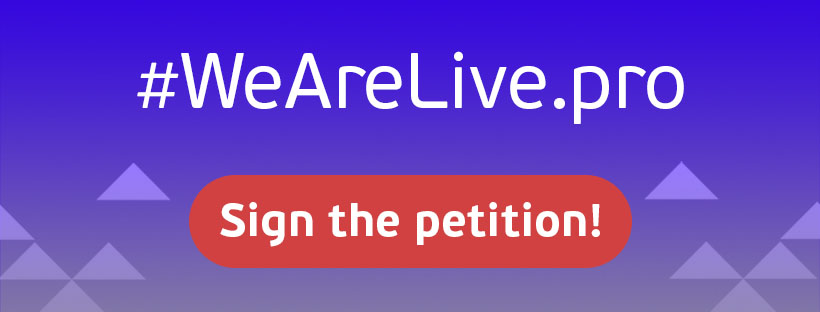 wearelive.pro sign the petition